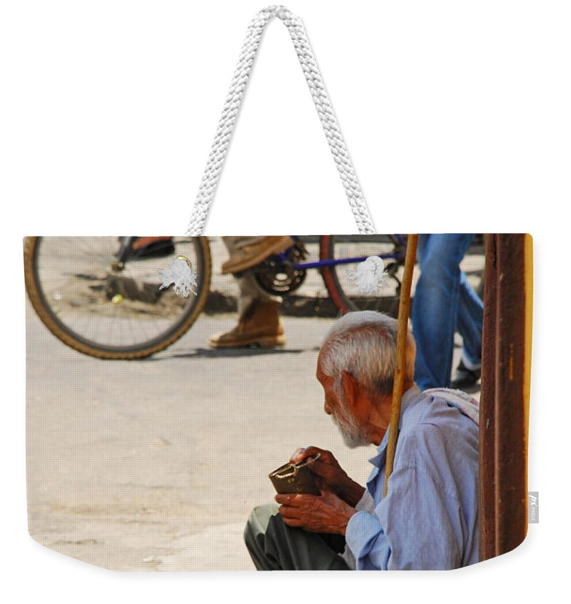 Beggar Weekender Tote Bag featuring the photograph Un Peso Por Favor by Skip Hunt