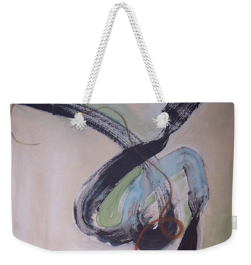 Abstract Paintings Weekender Tote Bag featuring the painting Unaccustomed Thought-abstract Art by Seon-Jeong Kim