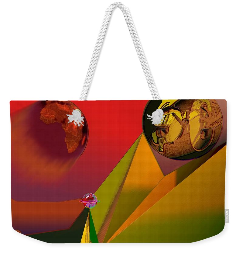 Earth Weekender Tote Bag featuring the digital art Unbalanced-the Source Of Violence by Helmut Rottler
