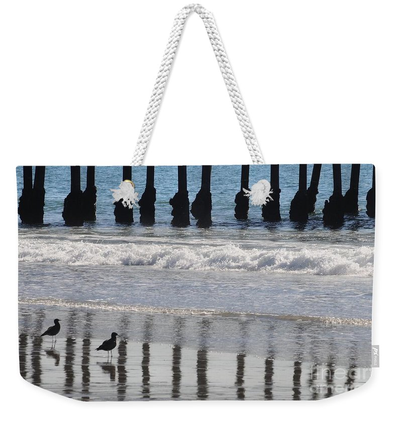 Ocean Weekender Tote Bag featuring the photograph Uncaged by Dan Holm