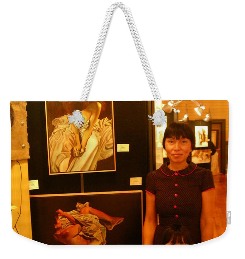 Unclad 2007 Exhibit Weekender Tote Bag featuring the photograph Unclad 2007 Exhibit by Thu Nguyen