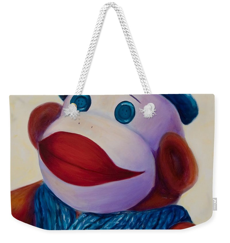 Children Weekender Tote Bag featuring the painting Uncle Frank by Shannon Grissom