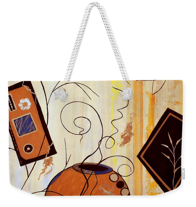 ruth Palmer Weekender Tote Bag featuring the painting Unconstrained by Ruth Palmer
