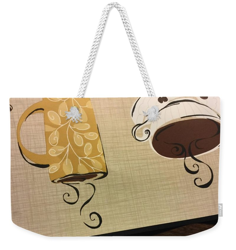 Abstract Weekender Tote Bag featuring the photograph Undecided  by Alwyn Glasgow