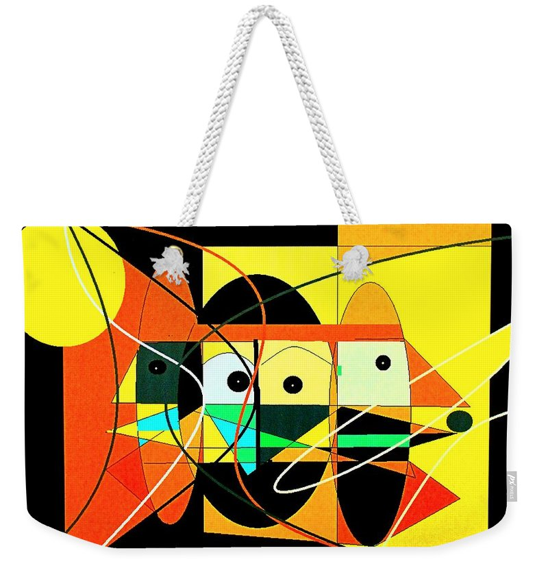 Abstract Weekender Tote Bag featuring the digital art Under A Mid Day Sun by Ian MacDonald