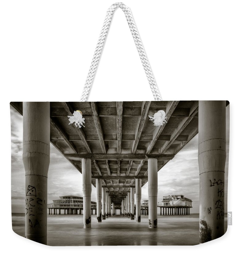 Pier Weekender Tote Bag featuring the photograph Under The Boardwalk by Dave Bowman