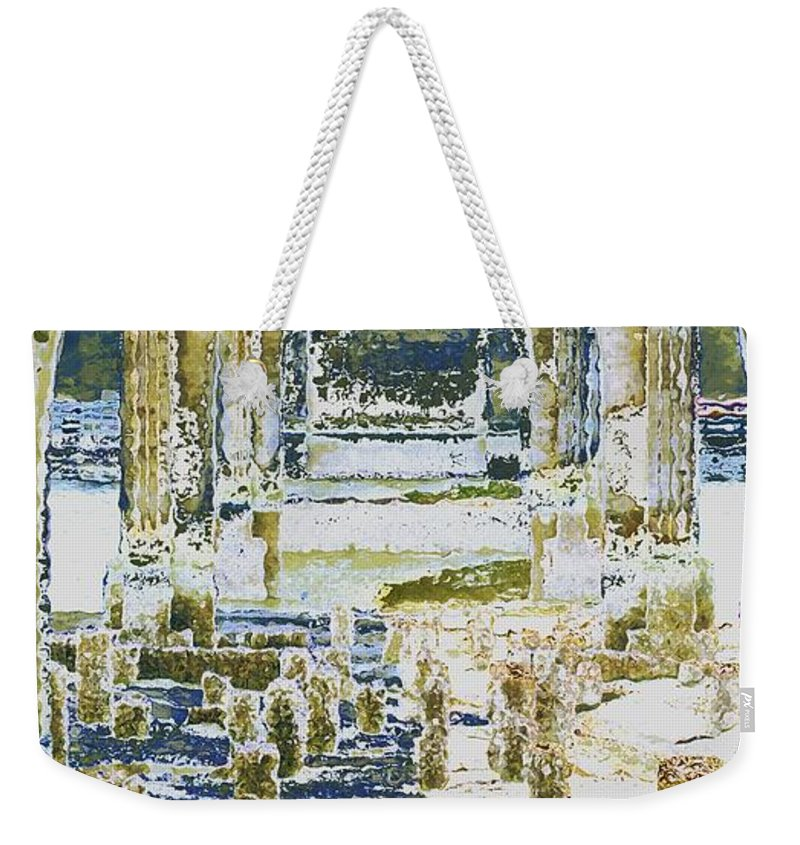 Bridge Weekender Tote Bag featuring the photograph Under The Bridge by Sara Stevenson
