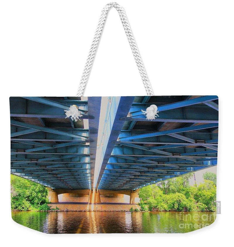 Bridge Weekender Tote Bag featuring the photograph Under The Bridge by Teresa Zieba