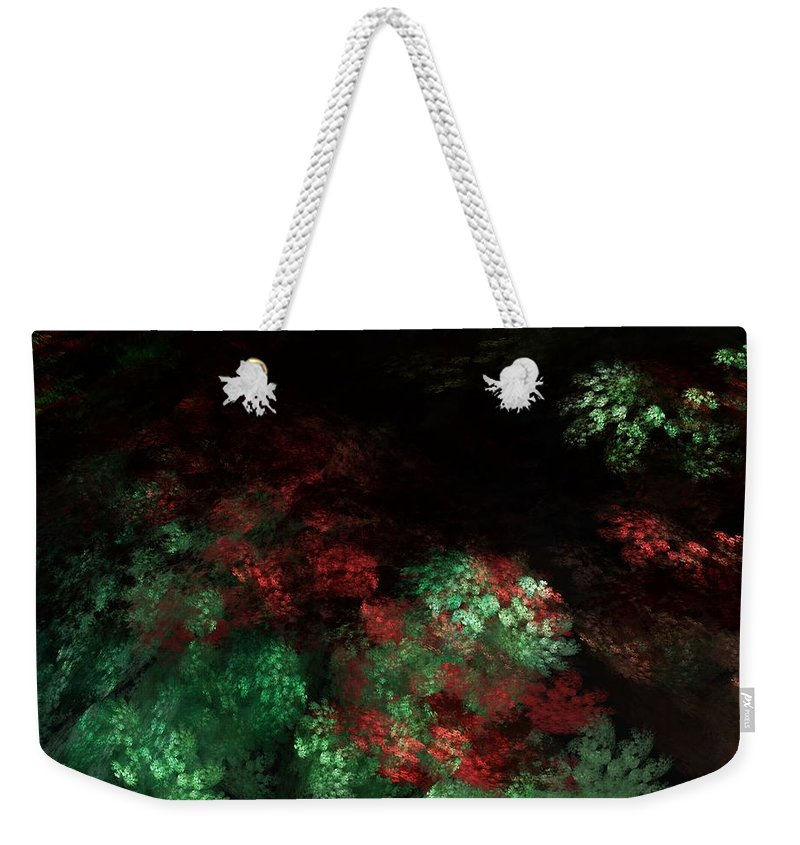 Abstract Digital Painting Weekender Tote Bag featuring the digital art Under The Forest Canopy by David Lane