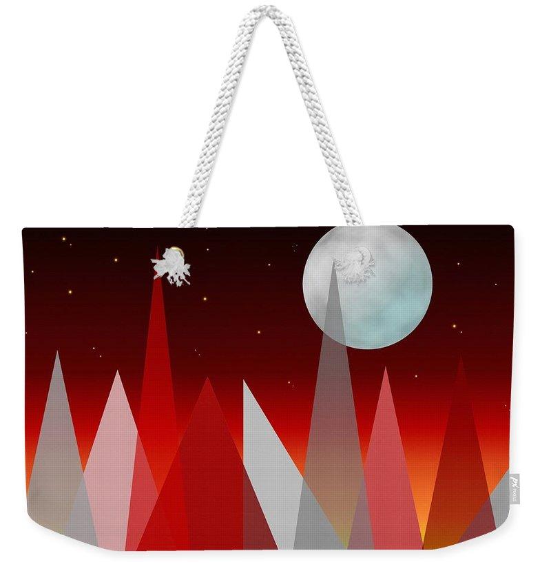 Landscape Weekender Tote Bag featuring the digital art Under The Night Sky by Kathleen Sartoris