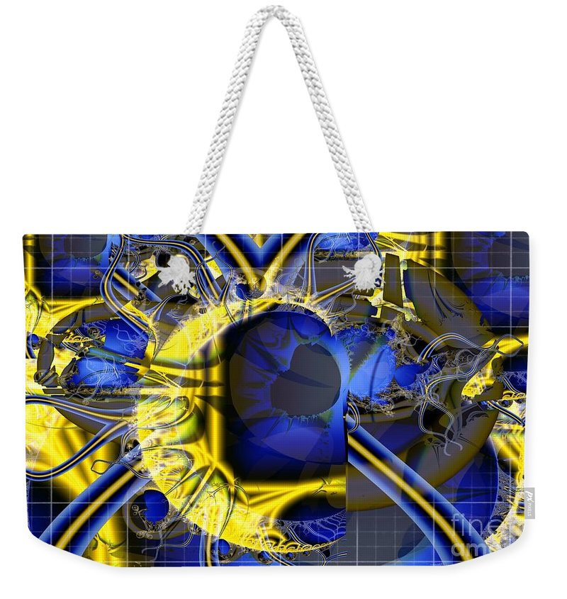 Radar Weekender Tote Bag featuring the digital art Under The Radar by Ron Bissett