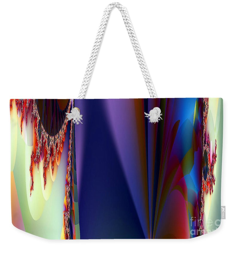 Clay Weekender Tote Bag featuring the digital art Under The Rainbow by Clayton Bruster