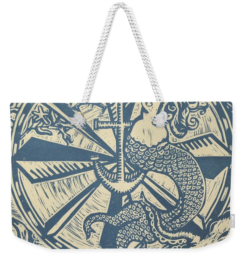 Under The Sea Weekender Tote Bag featuring the painting Under The Sea by Melissa Brazeau