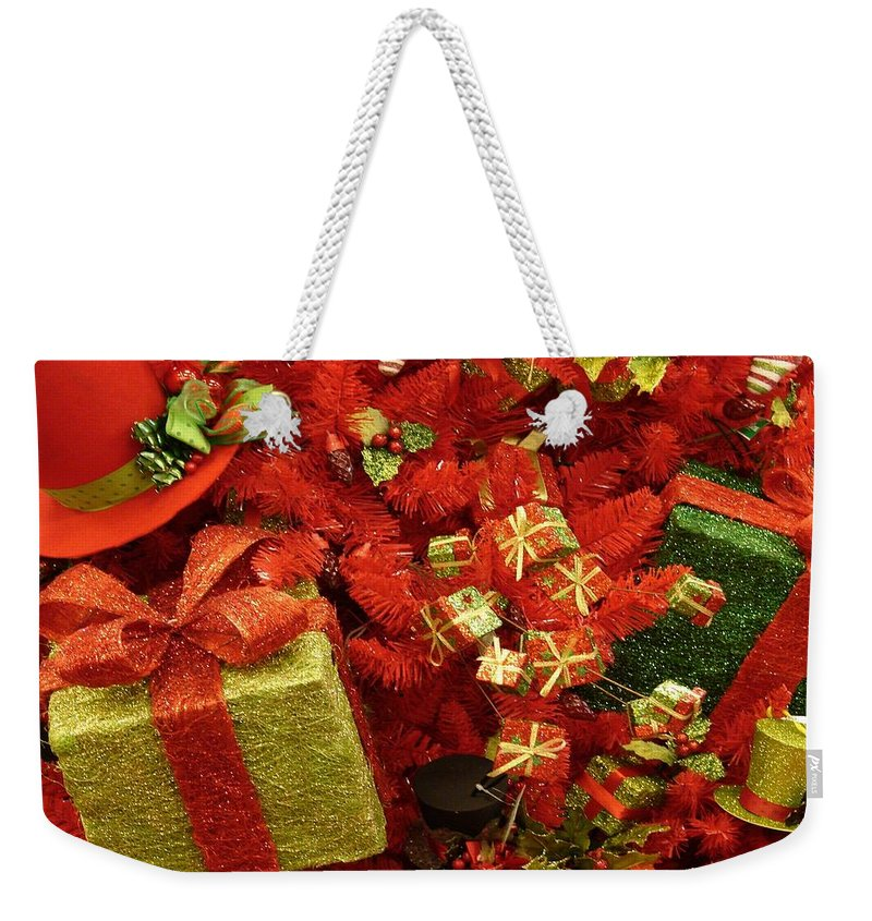 Christmas Presents Weekender Tote Bag featuring the photograph Under The Tree by Bob Carey
