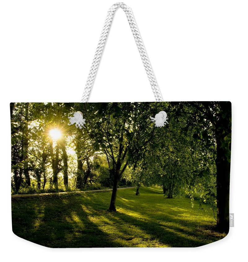 Countryside Weekender Tote Bag featuring the photograph Under The Trees by Svetlana Sewell