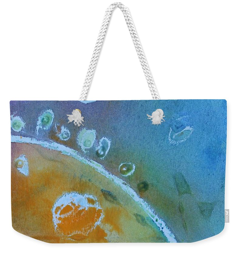 Abstract Weekender Tote Bag featuring the painting Underwater 2 by Modern Art