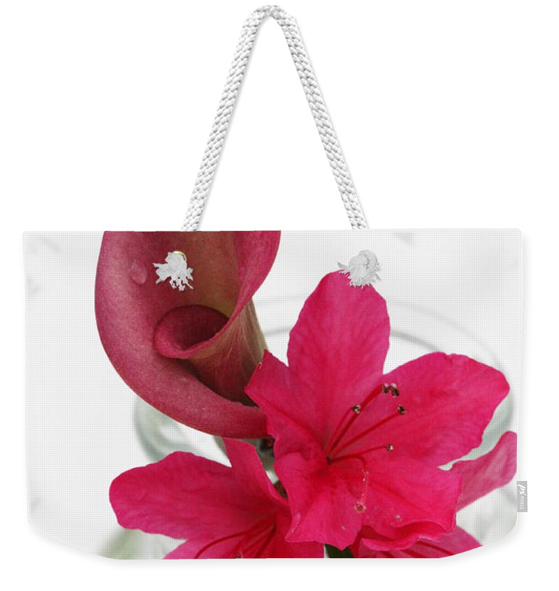 unexpected Pairing Weekender Tote Bag featuring the photograph Unexpected Pairing 2 by Amanda Barcon