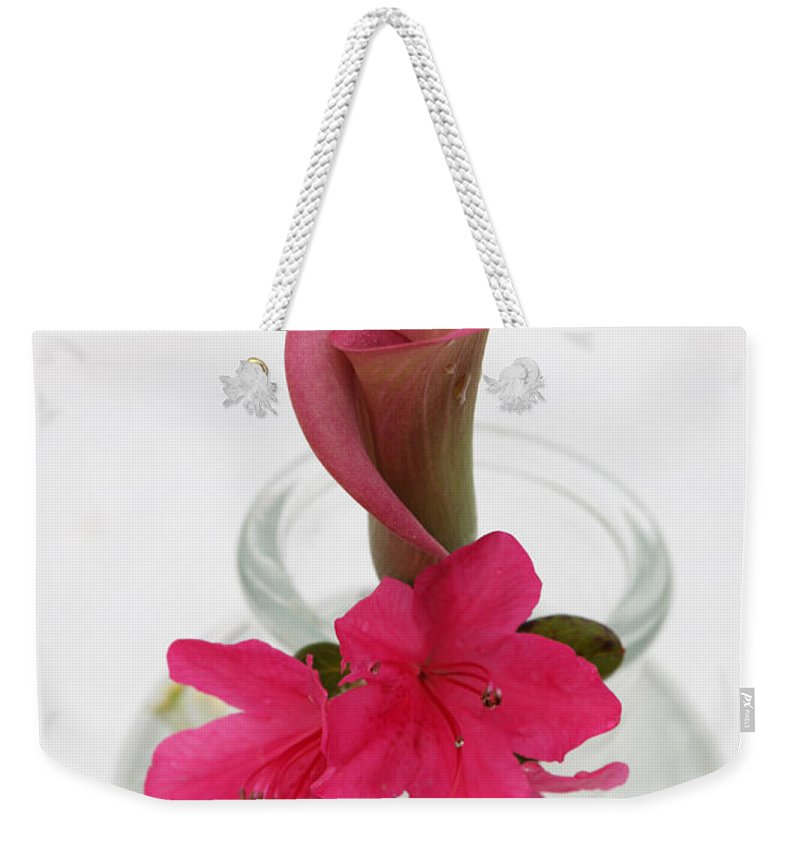 unexpected Pairing amanda Barcon Weekender Tote Bag featuring the photograph Unexpected Pairing by Amanda Barcon