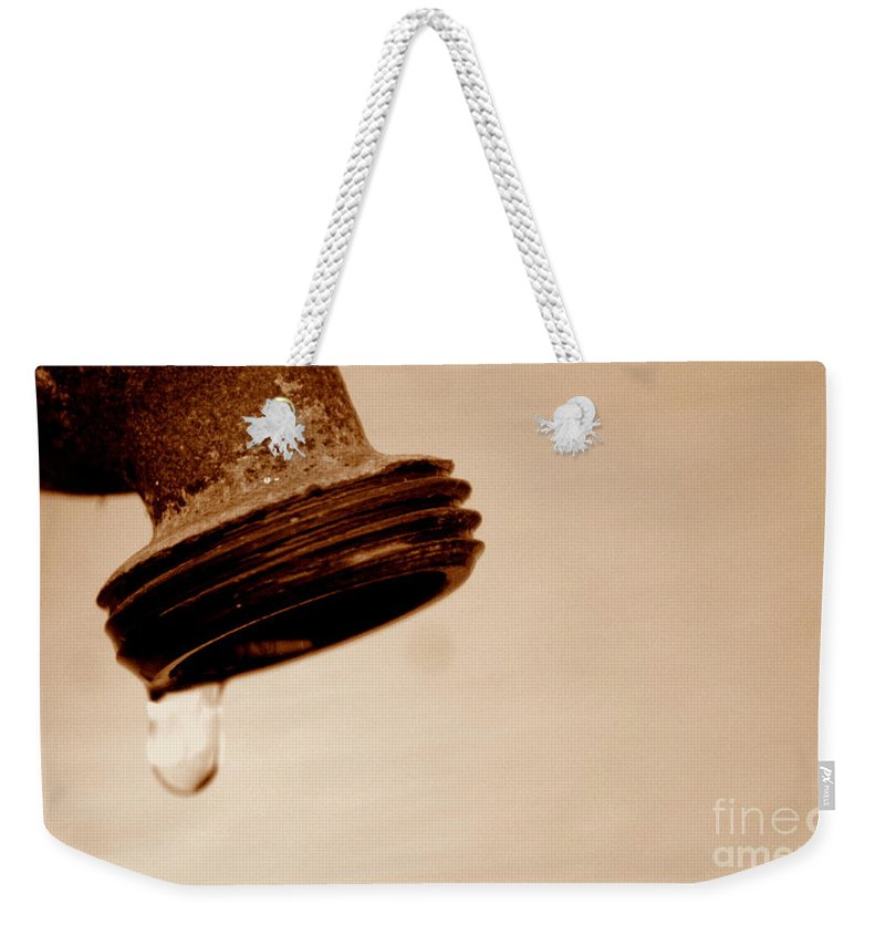 Faucet Weekender Tote Bag featuring the photograph Unfiltered by Jennifer Diaz