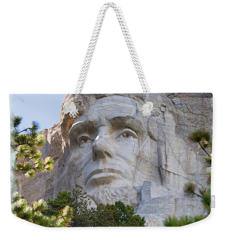 Landscape Weekender Tote Bag featuring the photograph Unfinished Lincoln 2 by John M Bailey