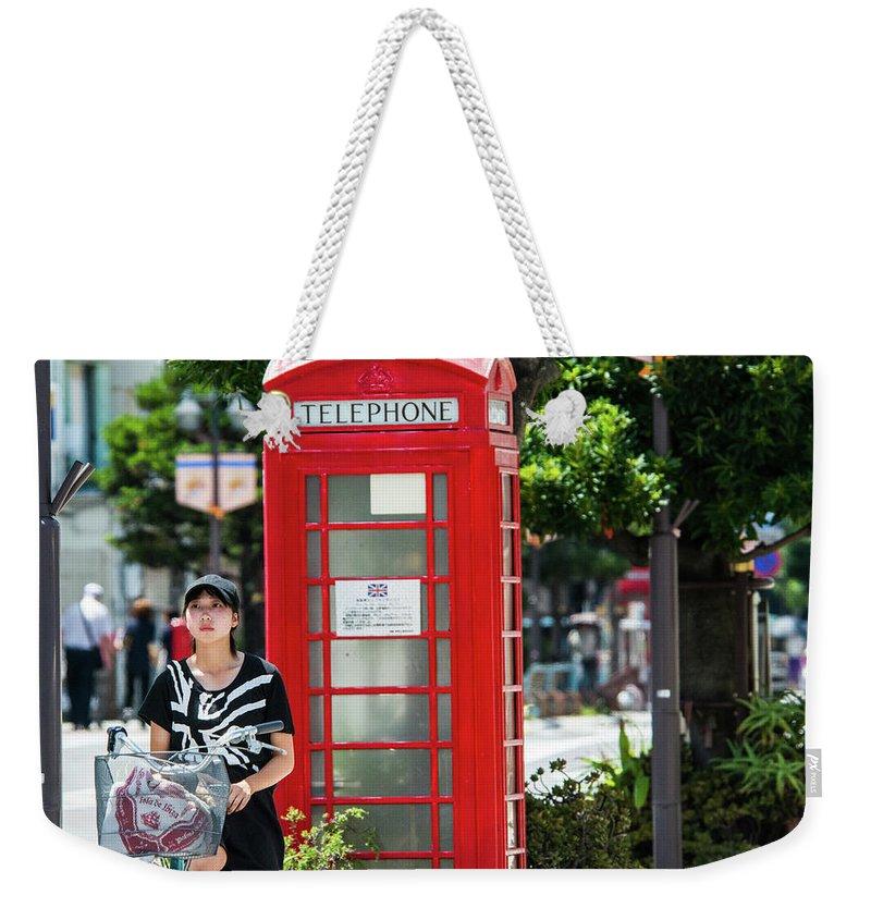 Japan; Union Jack; Britain Weekender Tote Bag featuring the photograph Union Jap by John Lillis