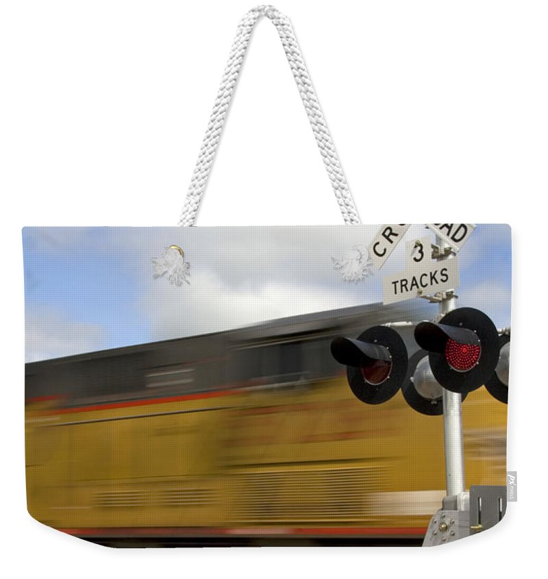 United States Weekender Tote Bag featuring the photograph Union Pacific Coal Train by David R Frazier and Photo Researchers
