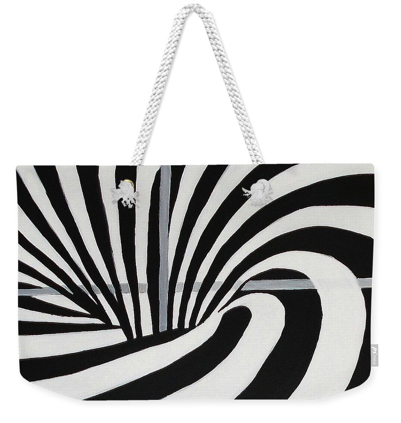 Abstract Painting Weekender Tote Bag featuring the painting Unique by Yael VanGruber