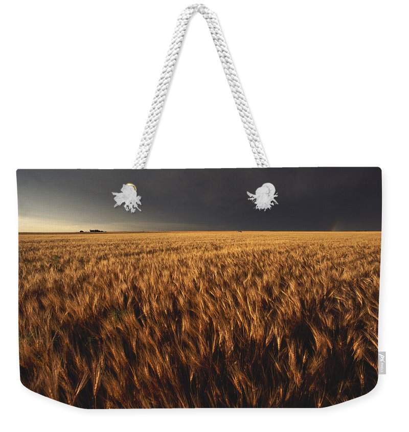 Nobody Weekender Tote Bag featuring the photograph United States, Kansas, Summer Thunder by Keenpress