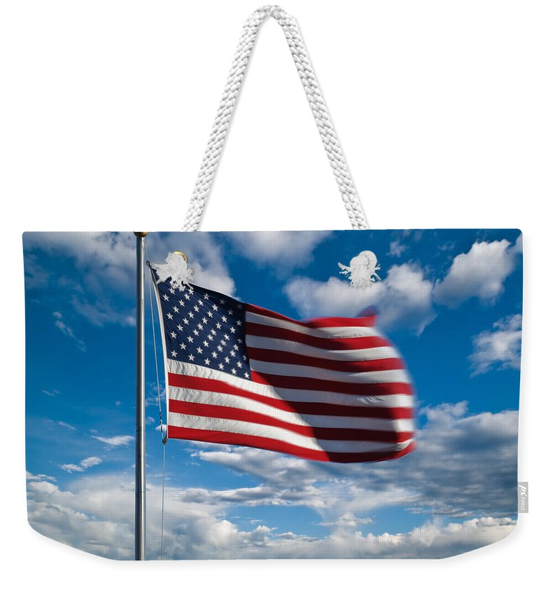 America Weekender Tote Bag featuring the photograph United States Of America by Steve Gadomski
