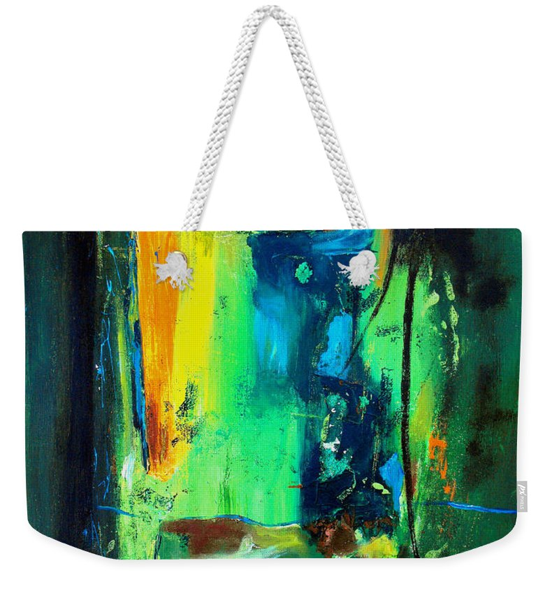 Abstract Weekender Tote Bag featuring the painting Unity In The Body by Ruth Palmer
