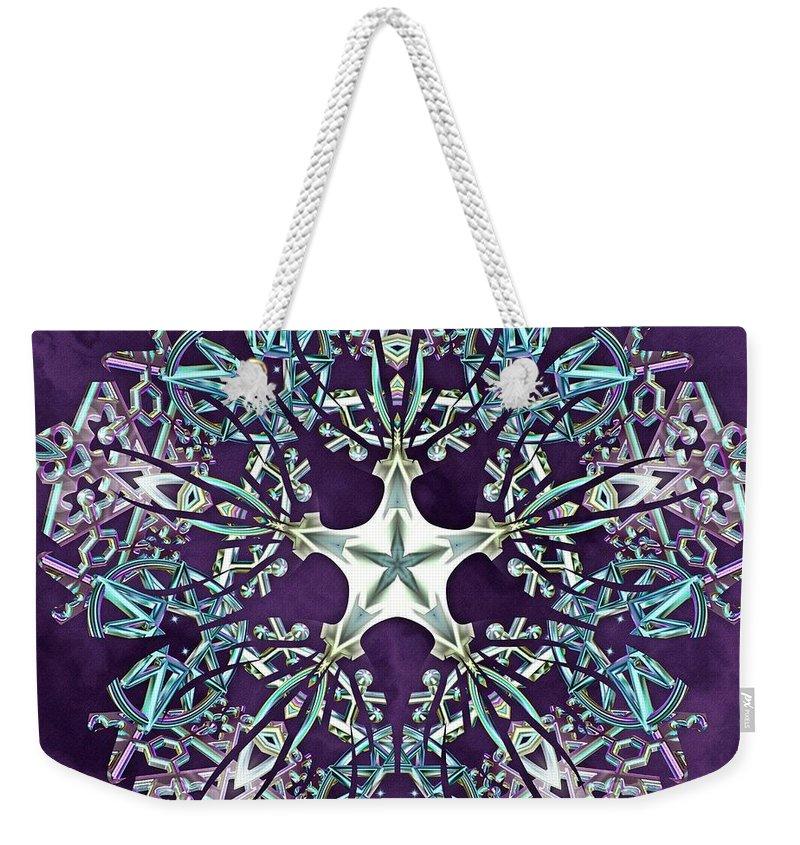 Unity Star Weekender Tote Bag featuring the digital art Unity Star by Derek Gedney