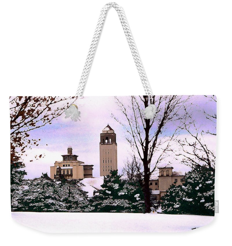 Landscape Weekender Tote Bag featuring the photograph Unity Village by Steve Karol