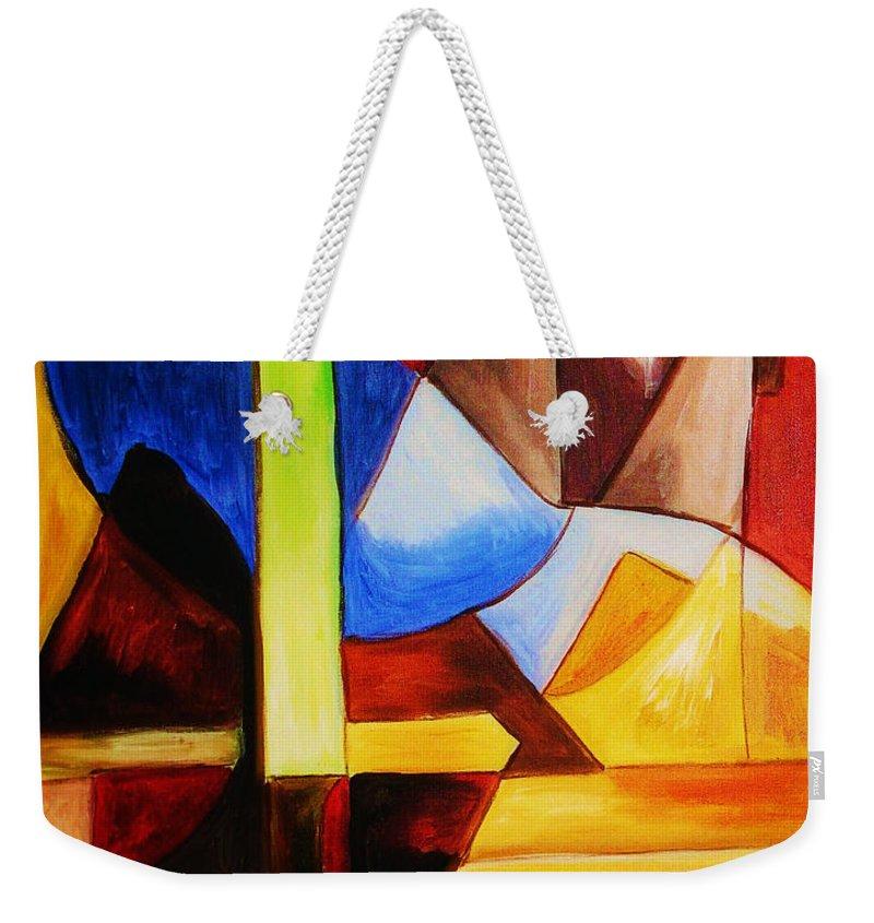 Acrylic Painting Weekender Tote Bag featuring the painting Unity by Yael VanGruber