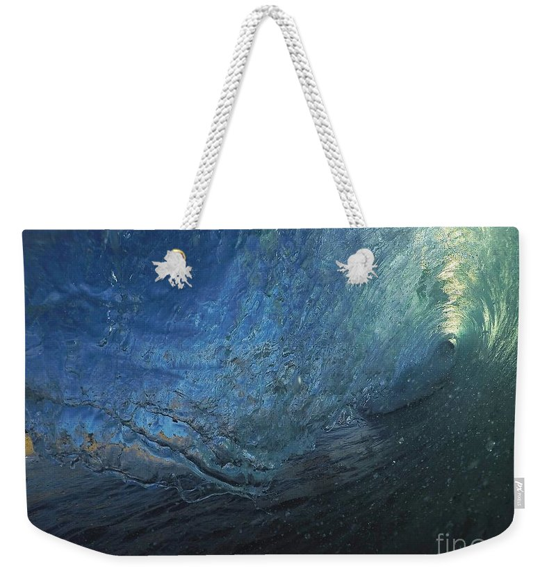 Weekender Tote Bag featuring the photograph Universal Test by Benen Weir