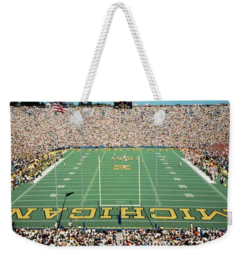 Photography Weekender Tote Bag featuring the photograph University Of Michigan Stadium, Ann by Panoramic Images