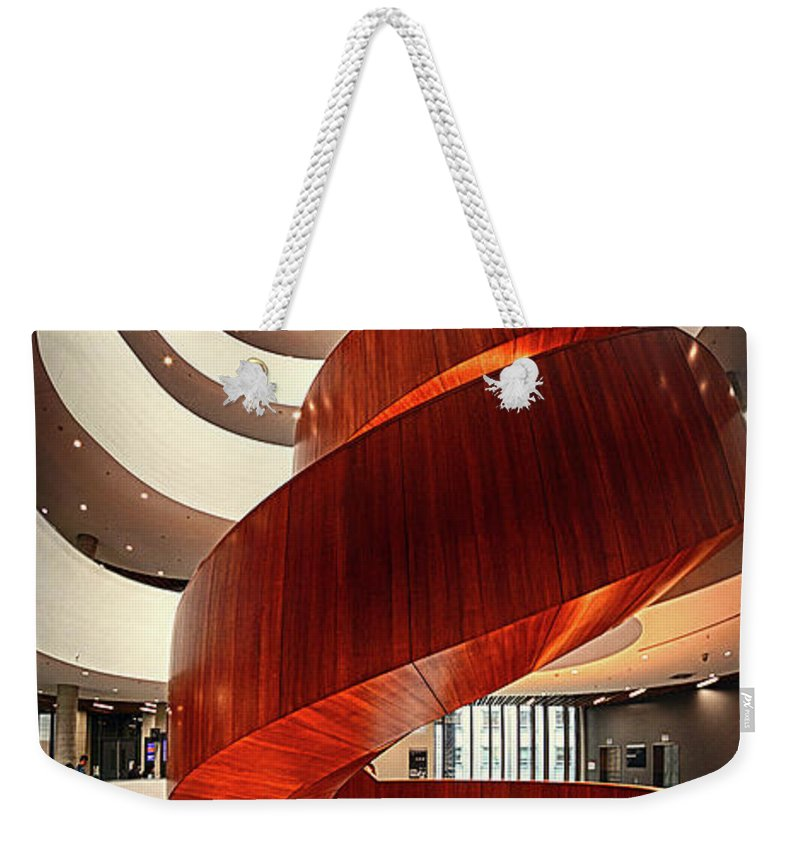 University Weekender Tote Bag featuring the photograph University Of Sydney Business School Interior IIi by Andrei SKY