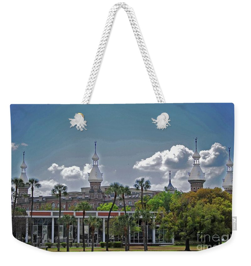 University Of Tampa Weekender Tote Bag featuring the photograph University Of Tampa by Jost Houk