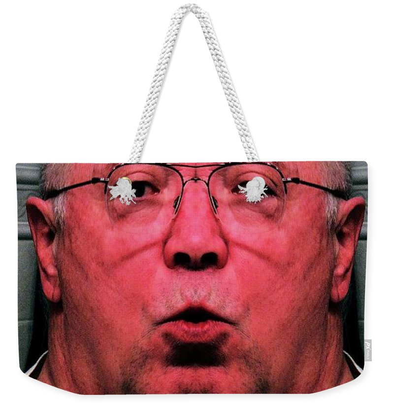 Steroid Portrait Weekender Tote Bag featuring the digital art Unknowingly Steroidal by Ron Bissett