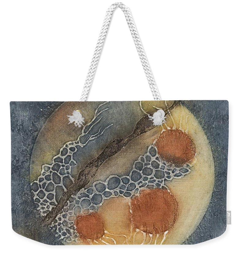 Biology Weekender Tote Bag featuring the mixed media Unknown Life Forms 3 by Pati Hays