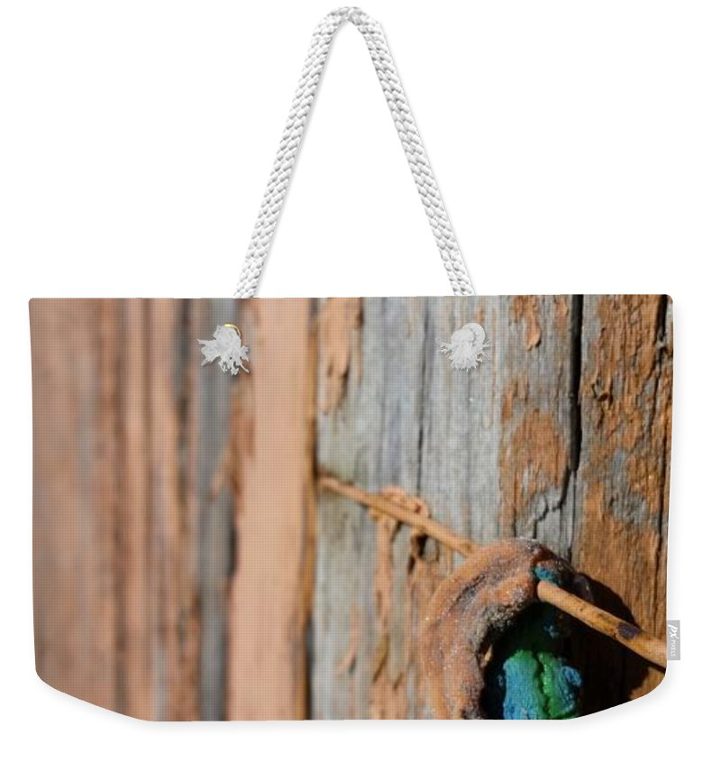 Weekender Tote Bag featuring the photograph Unknown Object by Zac AlleyWalker Lowing
