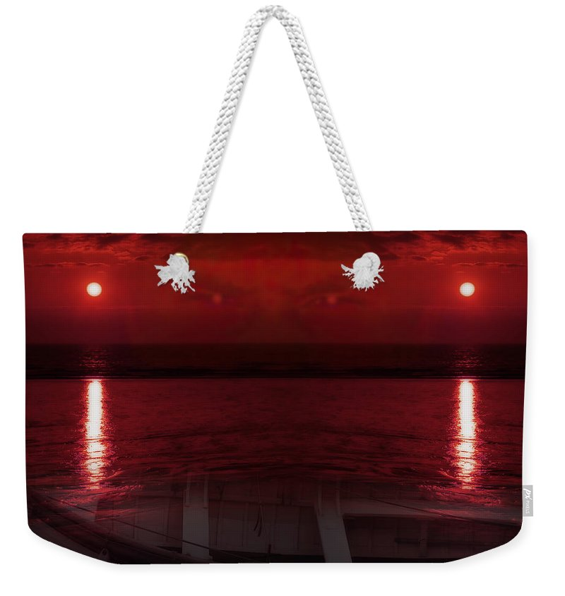 Abstract Weekender Tote Bag featuring the photograph Unknown Planet by Svetlana Sewell