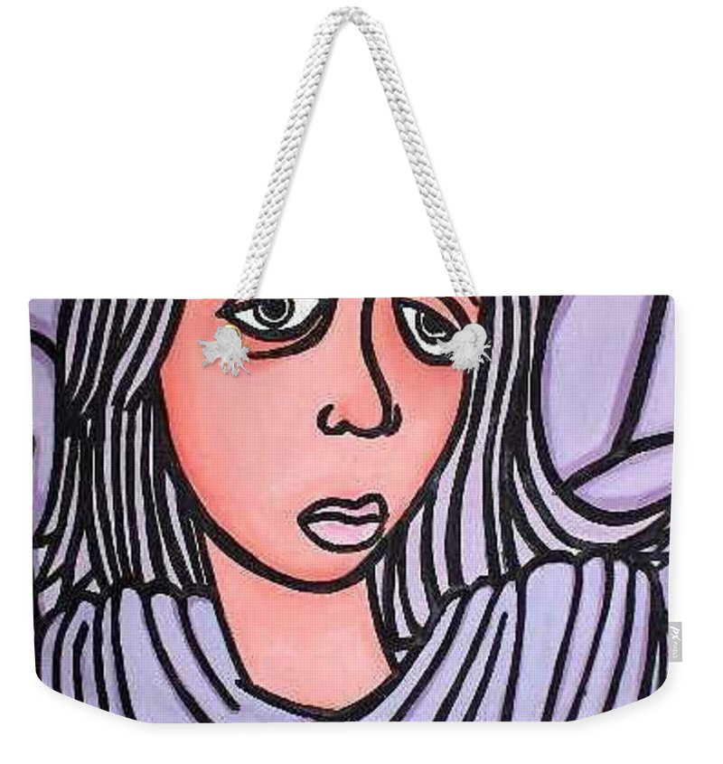 Portrait Weekender Tote Bag featuring the painting Unknown by Thomas Valentine
