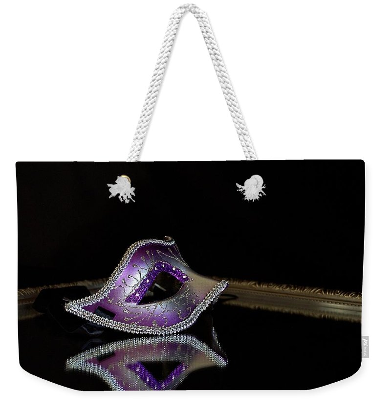Masquerade Weekender Tote Bag featuring the photograph Unmasked 1 by Valerie Cartier