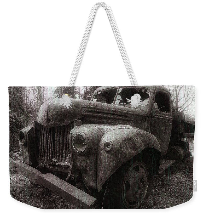 Truck Weekender Tote Bag featuring the photograph Unquiet Slumbers For The Sleeper by Jerry LoFaro