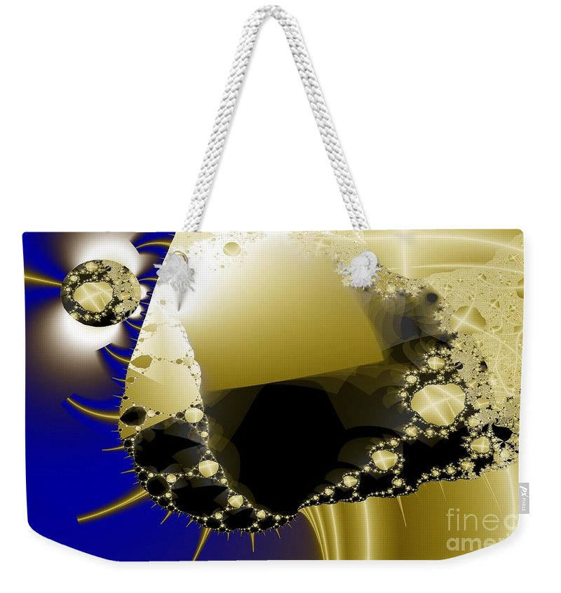 Unraveling Weekender Tote Bag featuring the digital art Unraveling by Ron Bissett