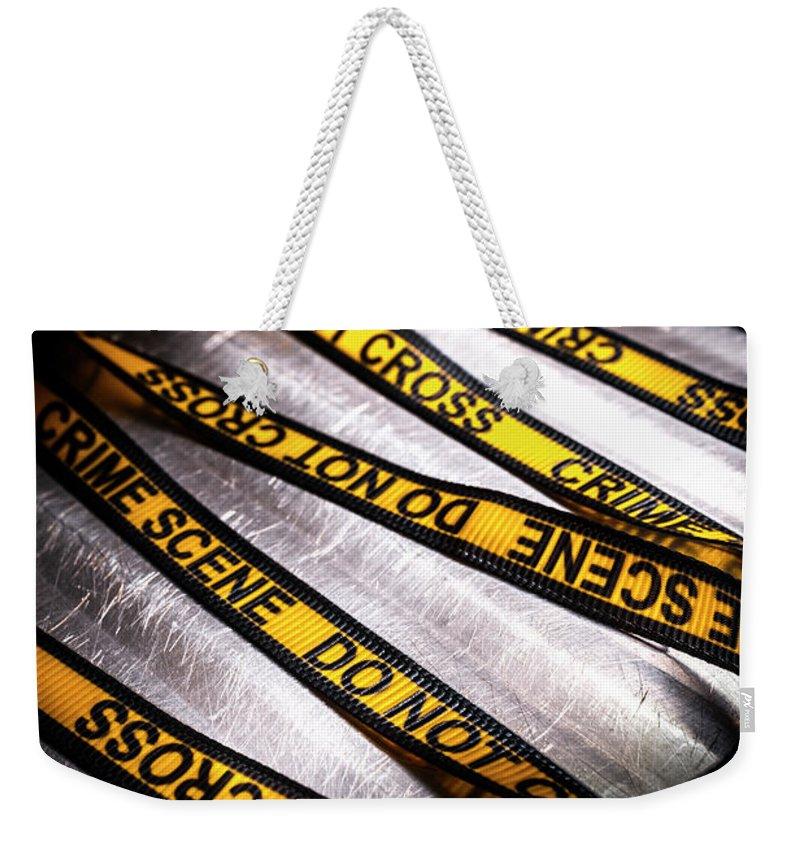 Investigation Weekender Tote Bags