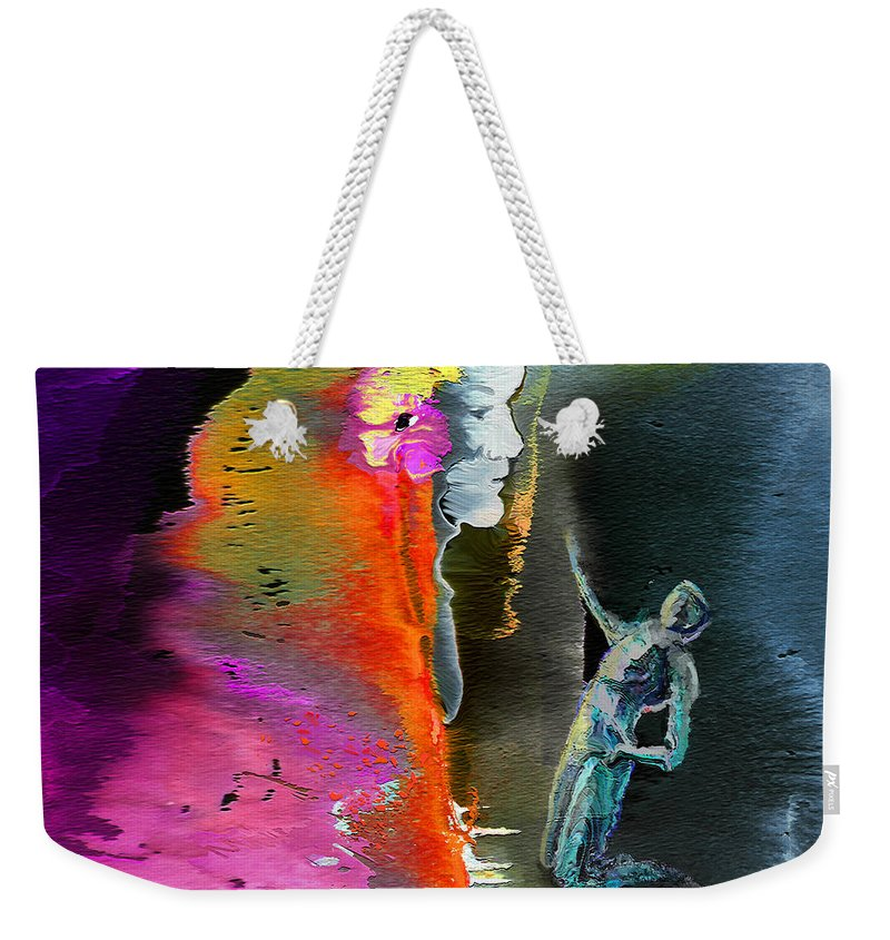 Dream Weekender Tote Bag featuring the painting Unrequited Love by Miki De Goodaboom