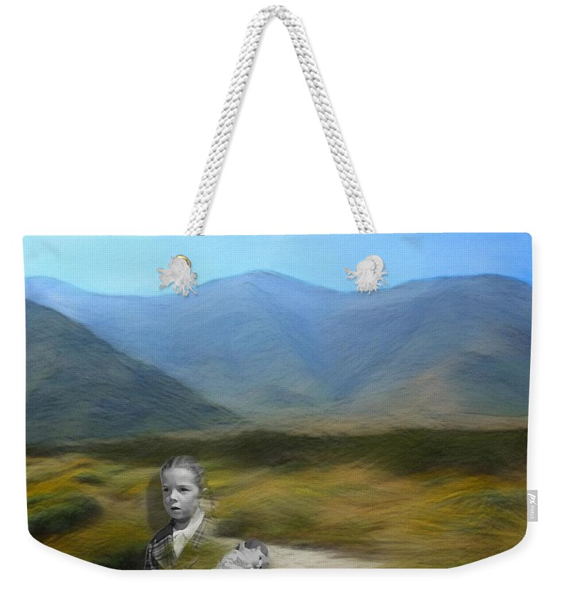 Desert Weekender Tote Bag featuring the digital art Unresolved by Snake Jagger