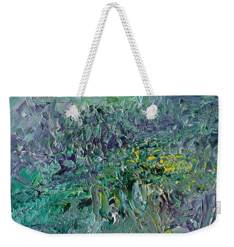 Fusionart Weekender Tote Bag featuring the painting Blind Giverny by Ralph White