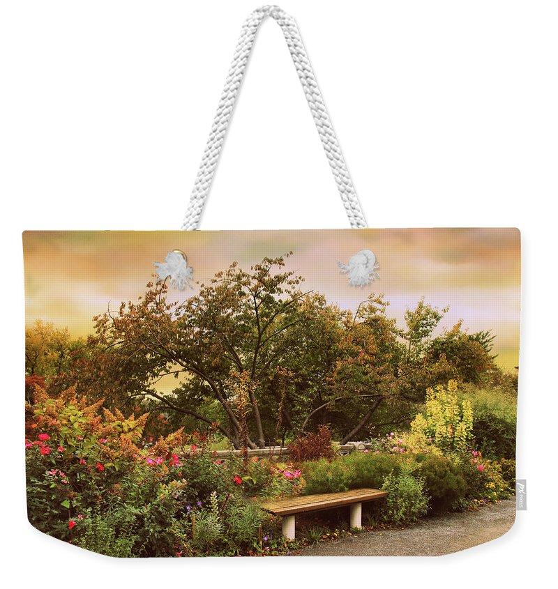 Park Bench Weekender Tote Bags